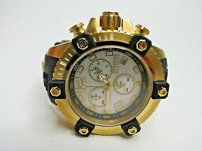 Invicta Reserve 48mm Arsenal Watch Gold 80360 Chronograph MOP Swiss Made
