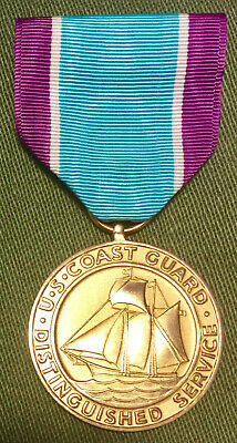 ORIGINAL US MEDAL Ribbon Bar Coast Guard Distinguished