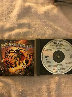 Autographed by entire band - Greatest Hits by Molly Hatchet (CD, Nov-1990, Epic)
