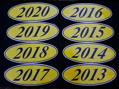 Car Dealer Lot Windshield 2 Digit Oval Model Year Stickers 6 Packs Red /& Yellow
