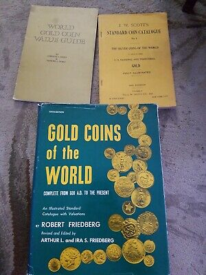 Collectibles books, world Gold coin Guides x's3, extremely collectible,  valuabl