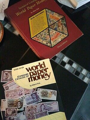 Collectibles books, world paper money x's 2 very valuable books