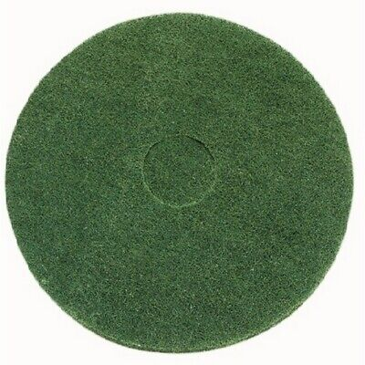 Green scrubbing floor pad - Pack of 5 15""