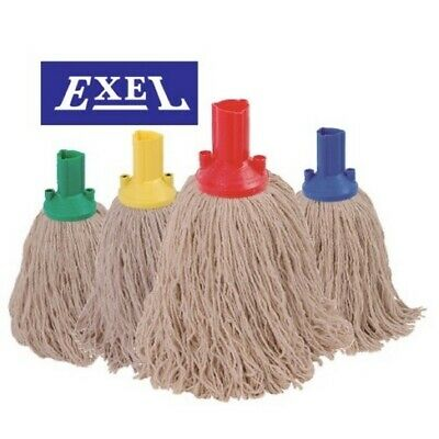 Exel colour coded twine 200grm mop head Green (Pack 10 )