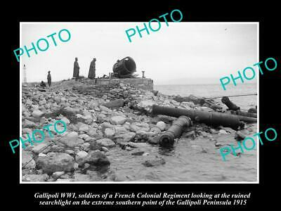 OLD LARGE HISTORIC MILITARY PHOTO WWI GALLIPOLI, FRENCH COLONIAL REGIMENT c1915
