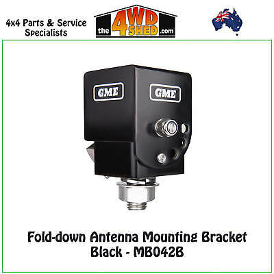 GME Fold-down Antenna Mounting Bracket Black - MB042B