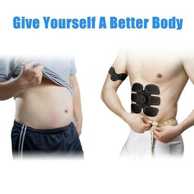 ROKOO Abs Stimulator Ultimate Muscle Toner with 10 Extra Gel Pads, EMS Abdominal