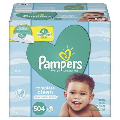 Pampers Baby Wipes Complete Clean Scented Refills 504 Count