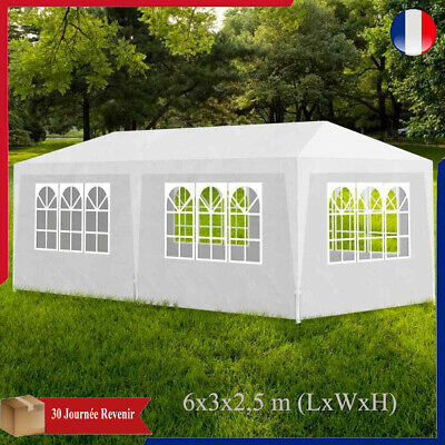 Gazebo Marquee Party Tente 6 Sides waterproof PE Garden Marquee Canopy Auvent
