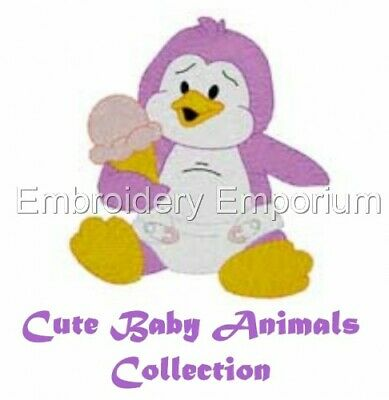 Cute Baby Animals Collection - Machine Embroidery Designs On Cd Or Usb
