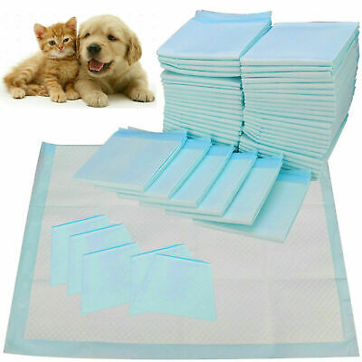 200 Puppy Dog Training Pads Toilet Pee Wee Mats Pet Cat Absorbent Trainer Uk