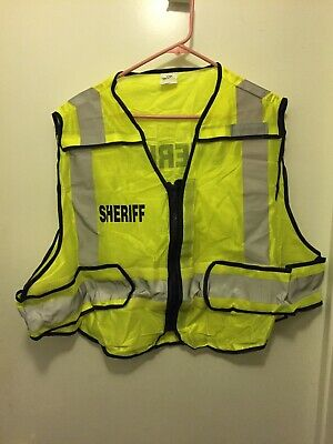 Sheriff Neon reflective safety vest 2x-4x In Great Condition