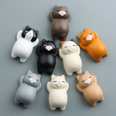 Funny Cartoon Animal Cute Cat Fridge Magnet Sticker Refrigerator Home Decors