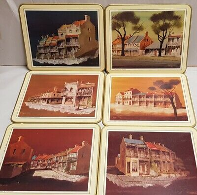 Jason Terraced Houses Rectangle Table Mats Set 6 Boxed Historic Buildings Sydney
