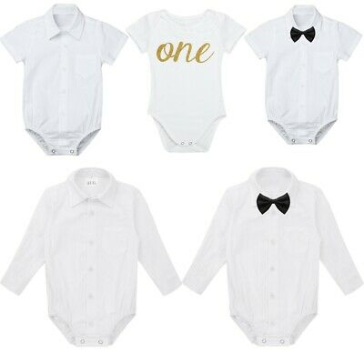 Baby Girls Boys My 1st First Birthday Romper Party Bodysuit Photography Outfits