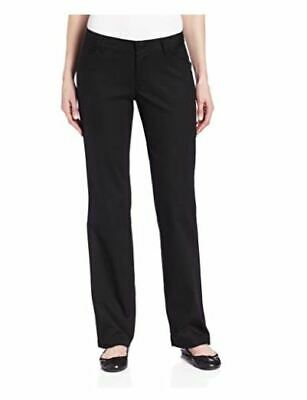 Dickies Womens Relaxed Fit Straight Leg Twill Pant Black, 4 Short