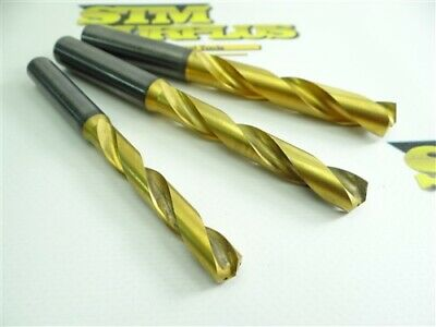Lot Of 3 Solid Carbide +Tin Coated Coolant Thru Drills 8.80Mm 10.30Mm & 12.0Mm