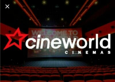 2 x ADULT CINEWORLD Cinema Tickets to a 2D film - SUNDAYS ONLY - NO BOOKING FEE