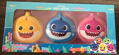 Baby Shark Bath Fizzers Set Of 3 Christmas Gift Present Bath Bombs