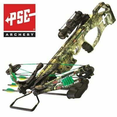 NEW PSE Crossbow Fang 350 XT Includes Scope Arrows Cocker Quiver Camo