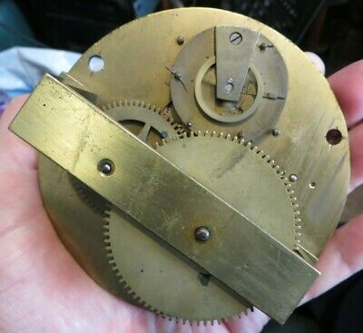 Unusual early English lever clock movement 8 day working