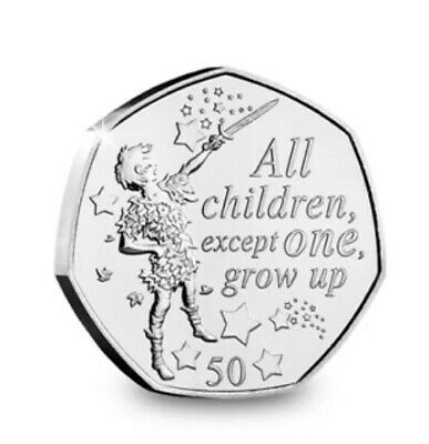 PETER PAN 50p COIN PETER 90th ANNIVERSARY NEW RELEASE 2019 UNCIRCULATED