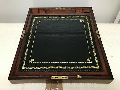 Early George III Antique Mahogany Campaign Writing Slope