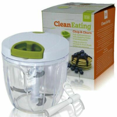 Clean Eating Pull Cord Manual Vegetable Food Chopper Processor Slicer Cutter