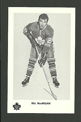 Billy MacMillan Vintage Toronto Maple Leafs 1970s Hockey Postcard NM
