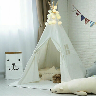 Canvas Children Indian Tent Teepee Wigwam Kids Birthday Present Play House NEW