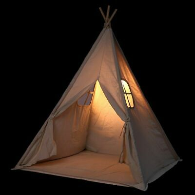 NEW Canvas Children Indian Tent Teepee Wigwam Kids Birthday Present Play House