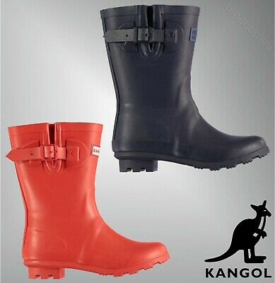 Boys Girls Kangol Grippy Logo Classic Design Tall Wellies Sizes from C10 to 2