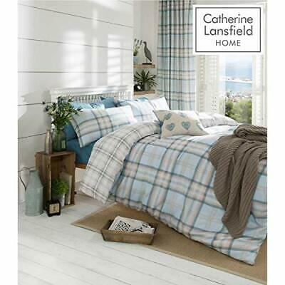 [dnd] Catherine Lansfield Kelso Cotton Rich Double Duvet Set Uovo d'anatra