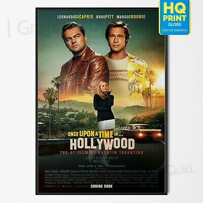Once Upon A Time In Hollywood 9th Quentin Tarantino Movie 2019 | A4 A3 A2 A1 |