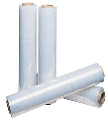 6 x NEW ROLLS OF STRONG CLEAR  PALLET STRETCH WRAP 500MM x 25MU / HIGH QUALITY