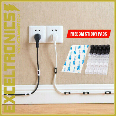 Cable Lead Wire Organizer Lead Tidy Clip Usb Charger Cord Holder Clear Tidy Clip