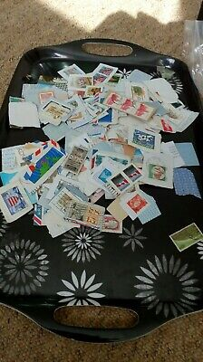 World kiloware stamps on paper