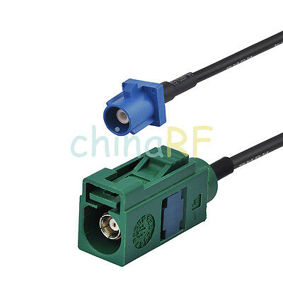 """Fakra """"E"""" Jack to Fakra """"C"""" plug extension cable RG174 1M for wireless antenna"""