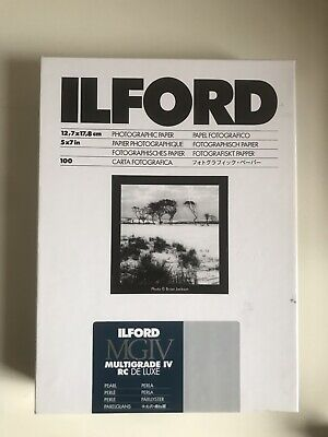 Ilford Multigrade IV RC Deluxe Pearl Paper / 12.7x17.8cm / 5x7 inch / 100 Sheets