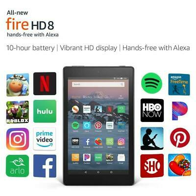 2018 Release Amazon Fire HD 8 8'' tablet with Alexa 16GB All new edition -Black