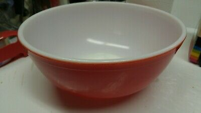 Vintage Pyrex Primary Color Glass Mixing Bowl RED 4 Qt. 404 Retro Kitchen