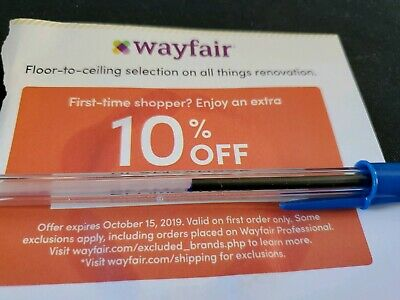 Wayfair 10% Off Entire 1st Order Coupon Online Wayfair.com Furniture Decor Home