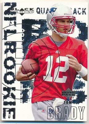 Tom Brady 2000 Ud Black Diamond #126 Rc Rookie Card New England Patriots Sp