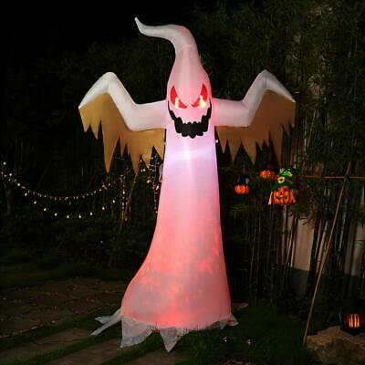 VIVOHOME 8FT Inflatable Red LED Halloween Decor Indoor Outdoor Ghost Yard Party