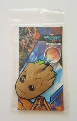 Marvel Guardians Of The Galaxy Groot Face Rubber Keychain Keyring Key Ring