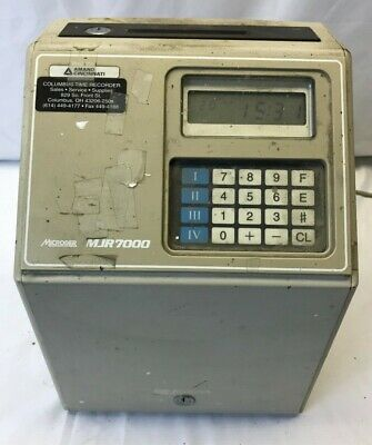 Amano MJR7000 Time Clock Powers On With Key