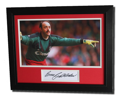 FRAMED Bruce Grobbelaar Liverpool HAND SIGNED Autograph Photo Mount + COA
