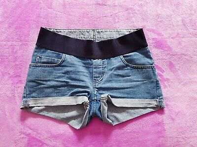 Asos maternity Size 6/EUR 34 under bump denim shorts - Light blue