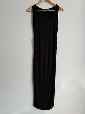BooHoo maternity Size 8 sleeveless bodycon maxi dress - Black