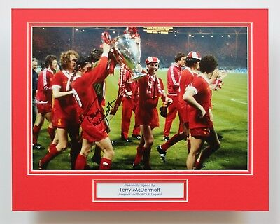 TERRY McDERMOTT Liverpool European Cup HAND SIGNED Autograph Photo Mount COA